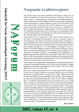 NAForum 15(4) 2002